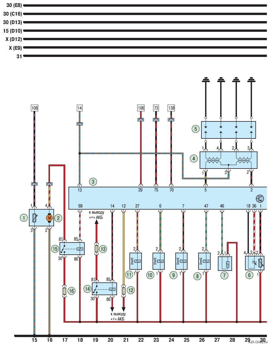 Схема электронного блока управления двигателем фото 431